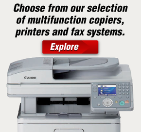 Choose from our selection of multifunction copiers, printers and fax systems.